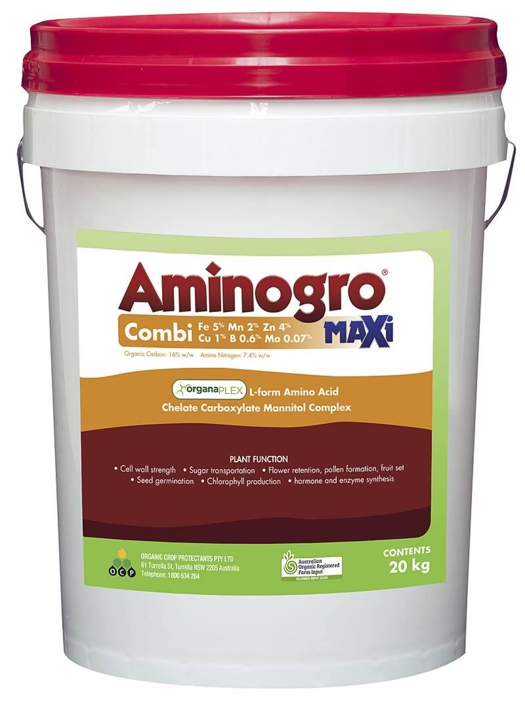 Aminogro MAXi COMBI Fe 5% Mn 2% Zn 4% Cu 1% B 0.6% Mo 0.07%