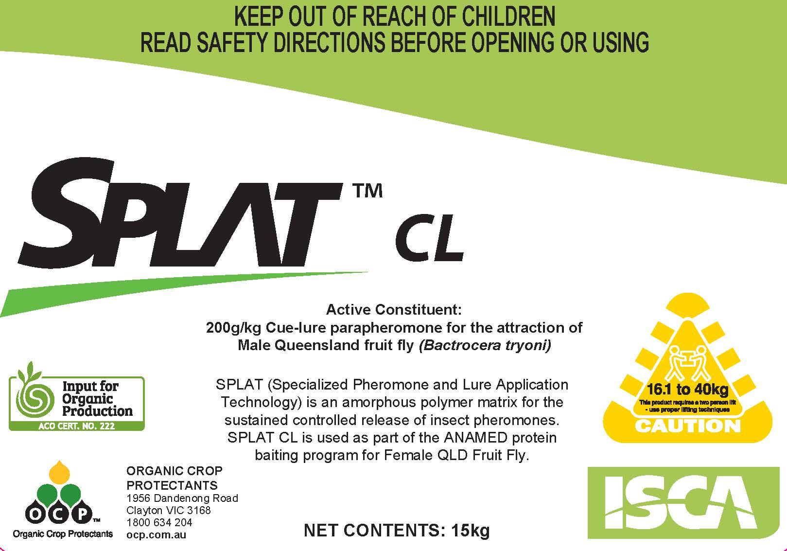 SPLAT CL (Cue-Lure) Male Qld Fruit fly Bait