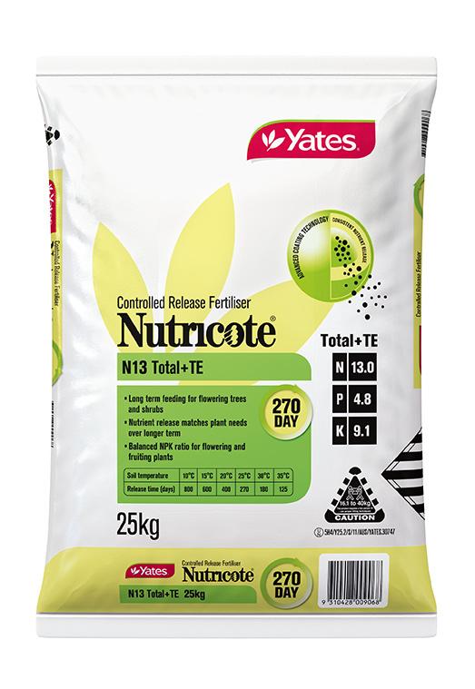 Yates Nutricote N13 Total + TE 270 Day - 13 : 4.8 : 9.1